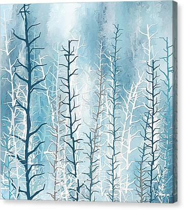 Turquoise Winter Canvas Print