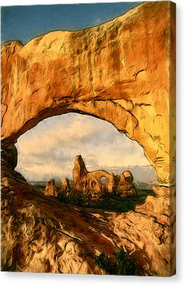 Turret Arch Framed Canvas Print