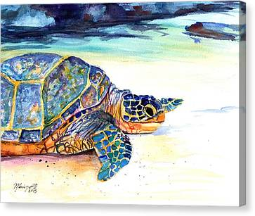 Turtle At Poipu Beach 2 Canvas Print