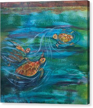 Turtle Ballet Canvas Print by Bonnie Rabert