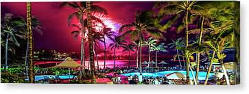 Turtle Bay - Independence Day Canvas Print by Sean Davey