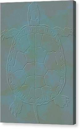 Turtle Shell Canvas Print - Turtle Etching by Dan Sproul
