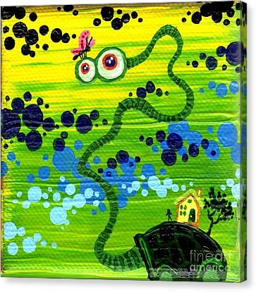 Turtle Guy Canvas Print by Dan Keough