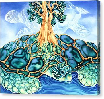 Turtle Island Canvas Print by Marcia Snedecor