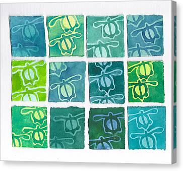 Turtle Petroglyphs 1 Canvas Print by Cynthia Conklin