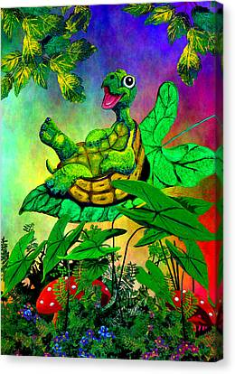 Turtle-totter Canvas Print