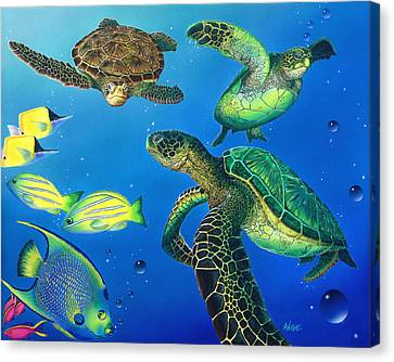 Turtle Towne Canvas Print by Angie Hamlin