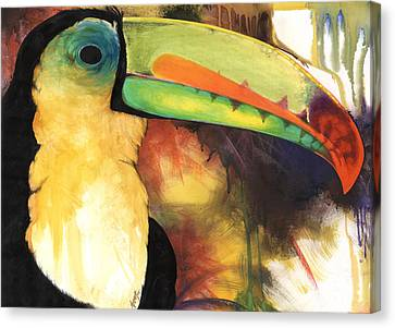 Canvas Print featuring the mixed media Tusanii by Anthony Burks Sr