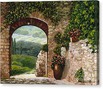 Tuscan Arch Canvas Print by Italian Art