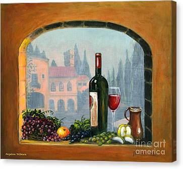 Tuscan Arch Wine Grape Feast Canvas Print