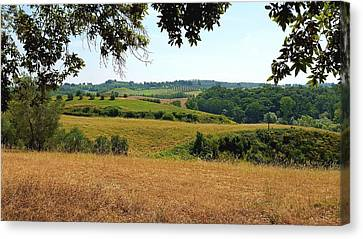 Tuscan Country Canvas Print by Valentino Visentini