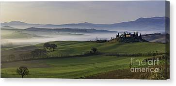 Tuscan Dawn Pano Canvas Print by Brian Jannsen