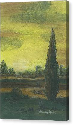 Tuscan Dusk 1 Canvas Print by Shelby Kube