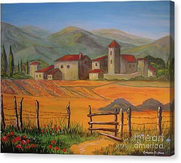 Tuscan Farm Canvas Print by Italian Art