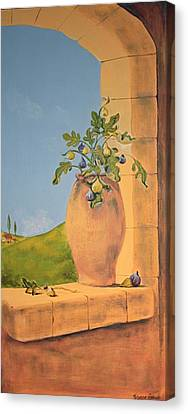Tuscan Figs Canvas Print by Yvonne Ayoub