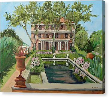 Nature Center Pond Canvas Print - Tuscan Garden, Snug Harbor, S.i. by Mafalda Cento