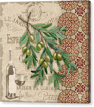 Tuscan Green Olives Canvas Print by Paul Brent