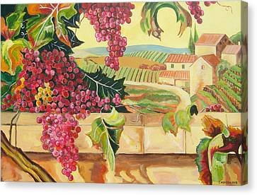 Tuscan Harvest Canvas Print by John Keaton