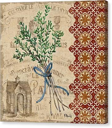 Tuscan Herbs Iv Canvas Print