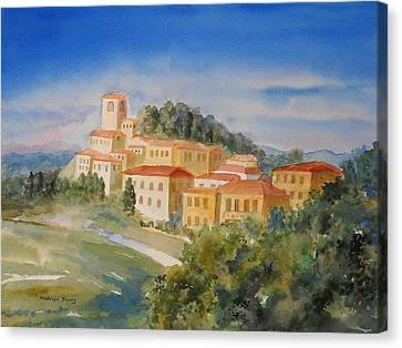 Tuscan Hilltop Village Canvas Print by Marilyn Young