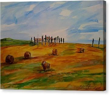 Tuscan Light  Canvas Print by Angela Puglisi