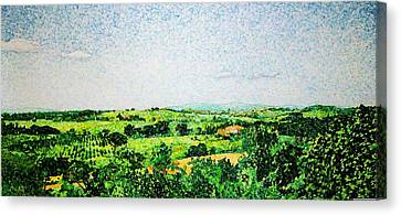 Tuscan Long View Canvas Print by Jason Charles Allen
