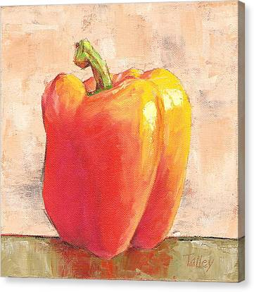 Canvas Print featuring the painting Tuscan Orange Pepper by Pam Talley