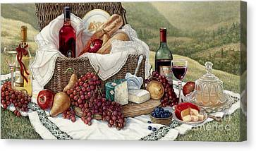 Tuscan Picnic  Canvas Print by Janet  Kruskamp