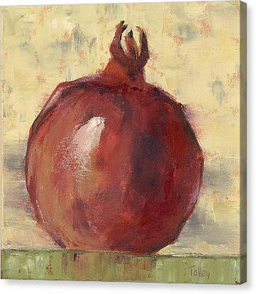 Canvas Print featuring the painting Tuscan Pomegranate by Pam Talley
