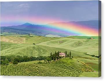 Tuscan Rainbow Canvas Print by Michael Blanchette
