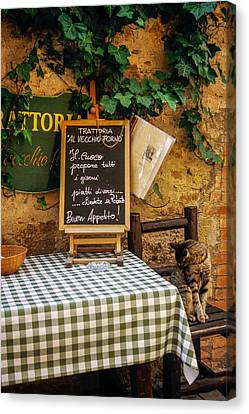Tuscan Restaurant Patron Canvas Print by Andrew Soundarajan