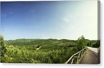 Tuscan Roads Canvas Print by Devin Hultgren