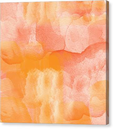 Rose Cottage Gallery Canvas Print - Tuscan Rose- Abstract Watercolor by Linda Woods