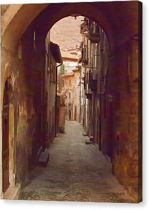 Canvas Print featuring the photograph Tuscan Side Street by Michael Flood