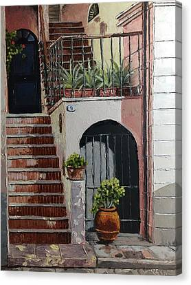 Tuscan Stairway Canvas Print