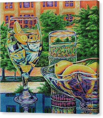 Canvas Print featuring the drawing Tuscan Summer Lemonade  by Peter Piatt