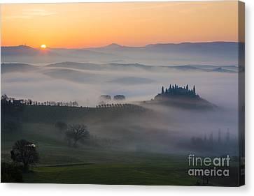 Tuscan Sunrise Canvas Print by Brian Jannsen