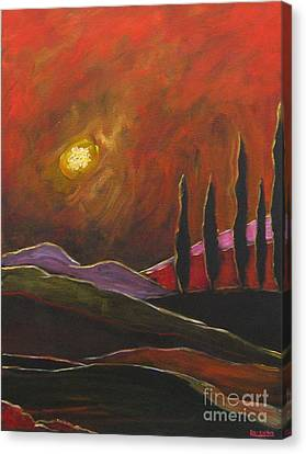 Tuscan Sunset Rage Canvas Print