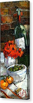 Tuscan Table Canvas Print by Carole Foret