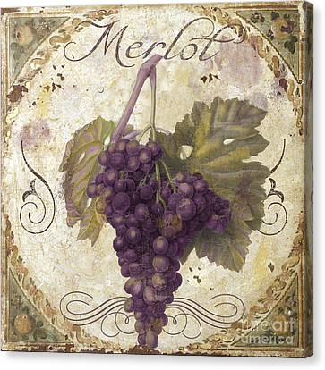 Tuscan Table Merlot Canvas Print by Mindy Sommers