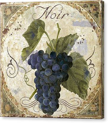 Tuscan Table Pinot Noir Canvas Print by Mindy Sommers