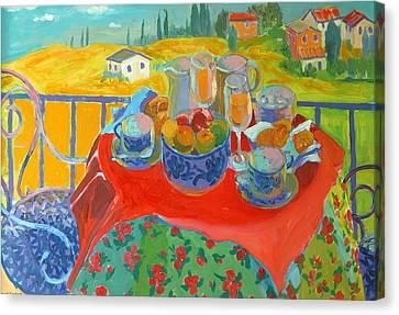 Tuscan Terrace Canvas Print