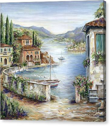 Canvas Print - Tuscan Villas By The Sea II by Marilyn Dunlap
