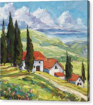 Tuscan Villas Canvas Print by Richard T Pranke