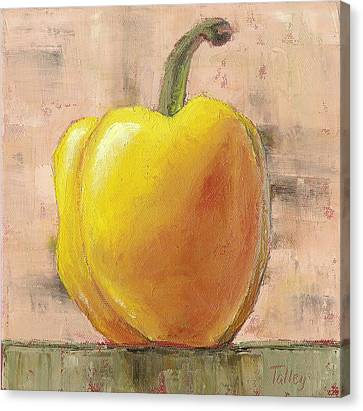 Canvas Print featuring the painting Tuscan Yellow Pepper by Pam Talley
