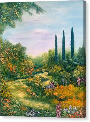Italian Landscapes Canvas Print - Tuscany Atmosphere by Hannibal Mane