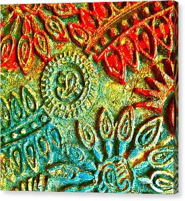 Tuscany Batik Canvas Print by Gwyn Newcombe