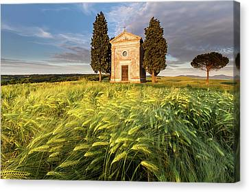 Tuscany Chapel Canvas Print by Evgeni Dinev