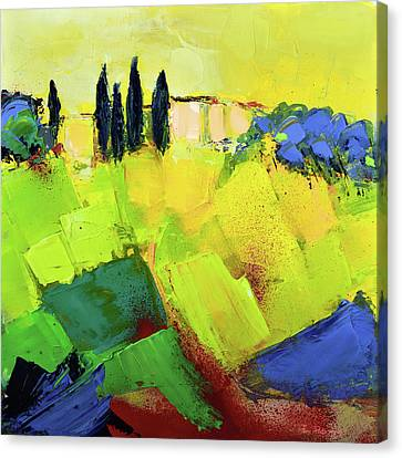 Tuscan Sunset Canvas Print - Tuscany Colors by Elise Palmigiani