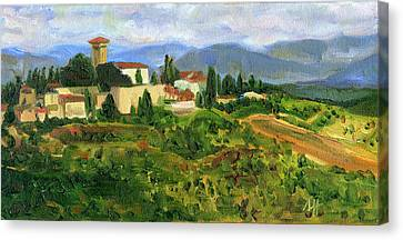 Tuscany From Castello Di Verrazzano Canvas Print